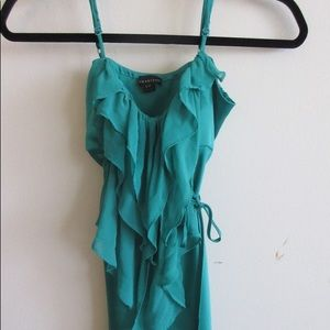 Forever 21 Green Ruffle Top Size Small or Medium